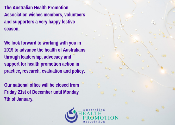 AHPA Christmas Message Web Communique