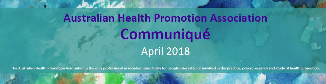 AHPA Communique April Cover